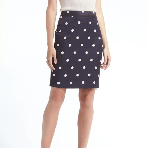 598e4a16b5 Banana Republic Dresses & Skirts - Banana Republic Dot Pencil Skirt- work,  interview